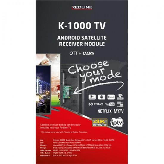 REDLİNE K1000 TV KARTI TKGS HD UYDULU ETHERNET GİRİŞLİ ANDROİD